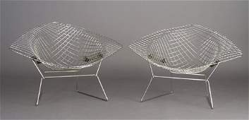 729: Pair of large HARRY BERTOIA for KNOLL wi
