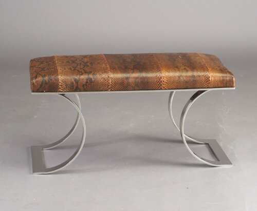 816: Fine KARL SPRINGER bench with snakeskin-