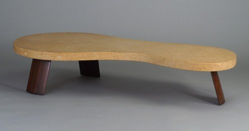 845: PAUL FRANKL coffee table with laminated
