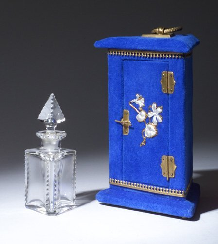 1: Victorian decorative perfume bottle, circa