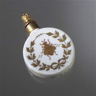 French porcelain scent bottle, circa 1920,