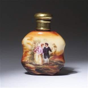 Victorian scent bottle, circa 1890, hand-