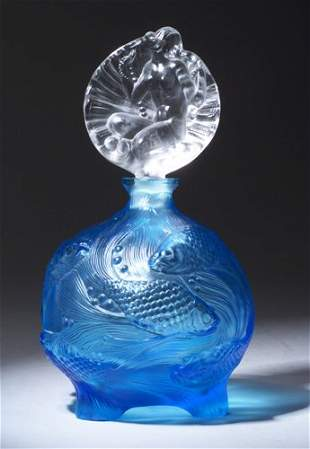 INGRID perfume bottle, circa 1920s, in aq