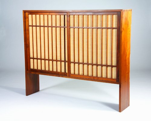 13: GEORGE NAKASHIMA Walnut two-door cabinet, 1965, wit