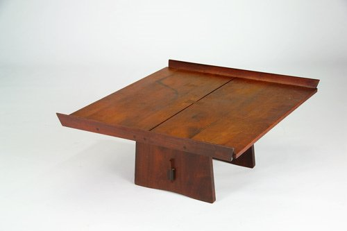 18: GEORGE NAKASHIMA Extremely rare Milkhouse table wit