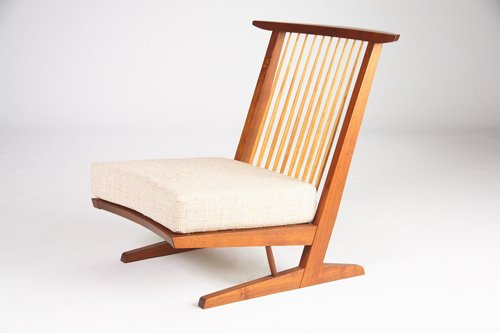 20: GEORGE NAKASHIMA Walnut Conoid Cushion Chair, 1965,
