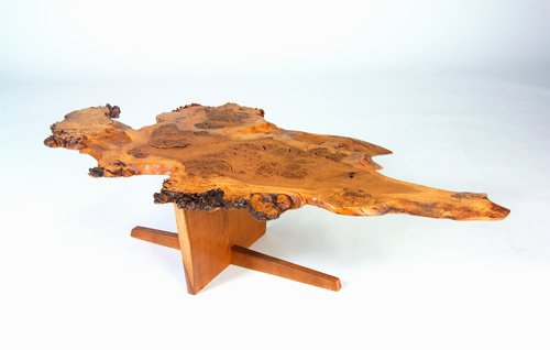 "21: GEORGE NAKASHIMA ""Minguren I"" coffee table, English"