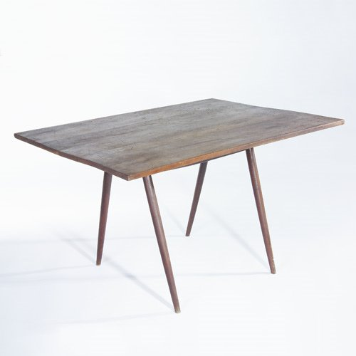 998: GEORGE NAKASHIMA Walnut dinette table with rectang