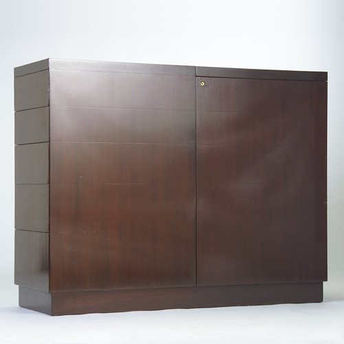 1016: VAN KEPPEL-GREEN Bar cabinet with five blind draw