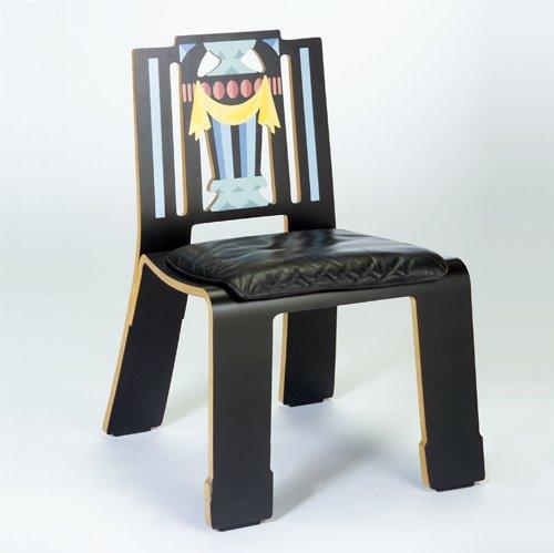 "1019: ROBERT VENTURI/KNOLL ""Sheraton"" molded plywood ch"