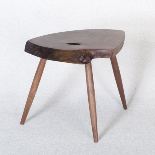 13: GEORGE NAKASHIMA Fine walnut side table,