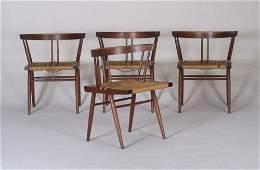 14: GEORGE NAKASHIMA Six walnut Grass seat ch