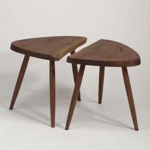 16: GEORGE NAKASHIMA Bookmatched pair of waln
