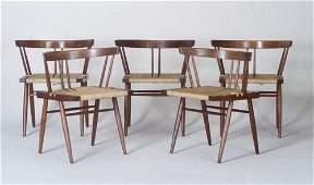 18: GEORGE NAKASHIMA Five walnut Grass seat c