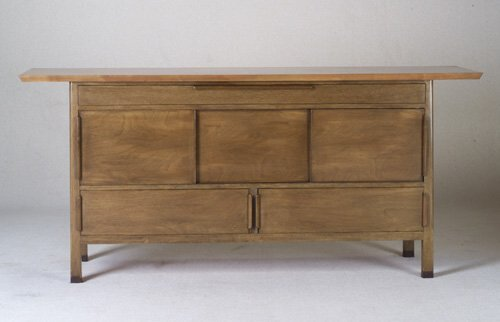 253: EDWARD WORMLEY DUNBAR walnut sideboard i
