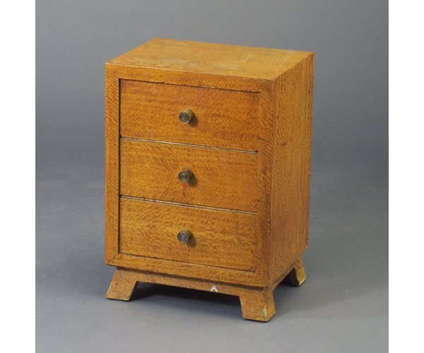 18: Unusual and early JAMES MONT three-drawer