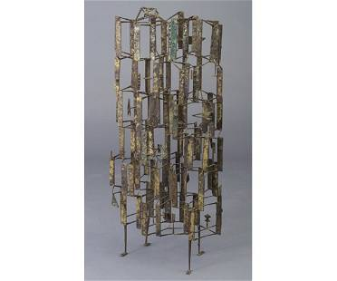 260: Large and rare HARRY BERTOIA steel and b