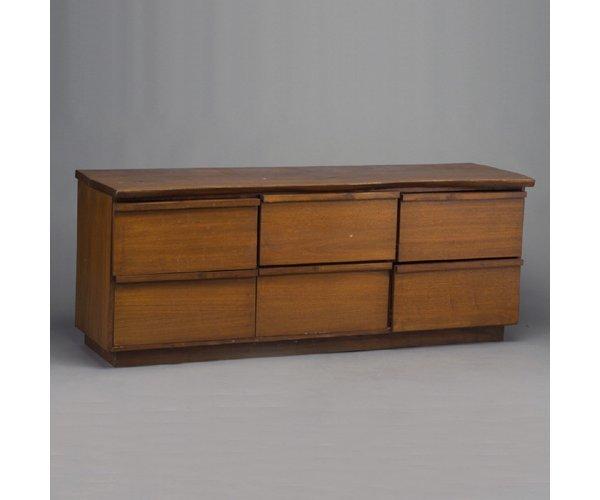 502: SHIZUHIKO WATANABE walnut six-drawer dre