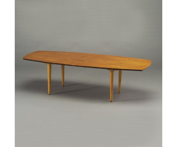 505: ABEL SORENSEN walnut coffee table with t