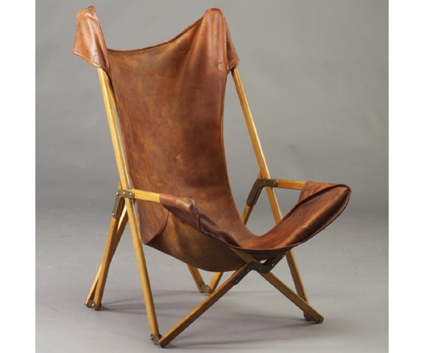 523: ROMA Safari chair with knock-down wood f