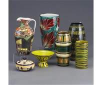 654: Lot of seven assorted Italian ceramic pi