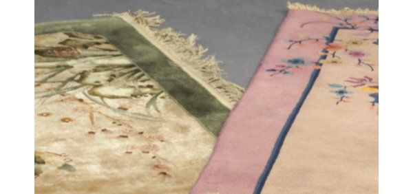 1091: Two Chinese area rugs: one Art Deco, 19