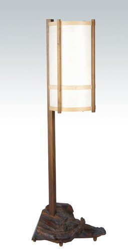 4: GEORGE NAKASHIMA Exceptional rosewood floor lamp wit