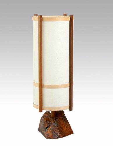 5: GEORGE NAKASHIMA Single-socket table lamp on burl wo
