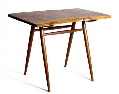 18: GEORGE NAKASHIMA Walnut foyer table with free-edge