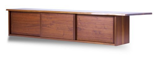 20: GEORGE NAKASHIMA Walnut wall-hanging cabinet with o