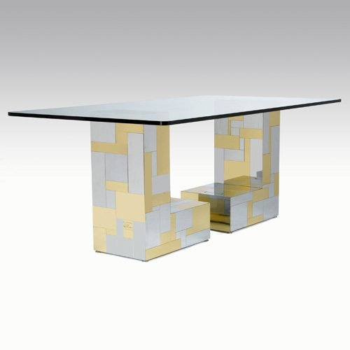 1014: PAUL EVANS/DIRECTIONAL Cityscape dining table wit