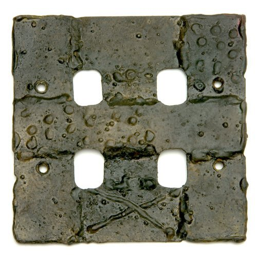 1023: PAUL EVANS Sculpted Steel light switch plate. 5""