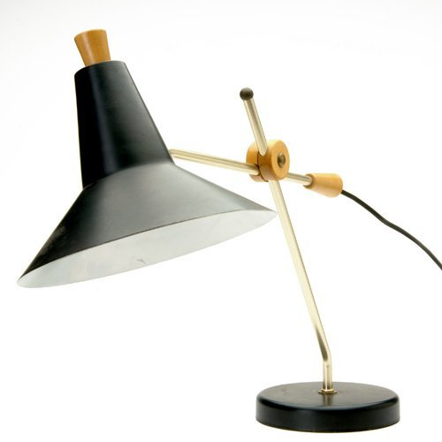 1196: LIGHTING Adjustable table lamp of enameled metal