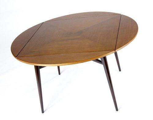 1424: EDWARD WORMLEY/DUNBAR Fold-out dining table. Dunb - 2