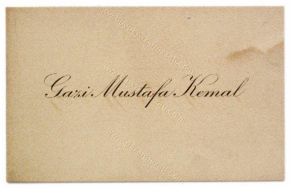 25:  Mustafa Kemal Ataturk ' s authentic business card