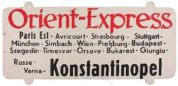 31: Orient Express Sign - Konstatinopel