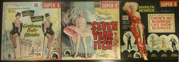 46: Marilyn Monroe 8 mm 3 movies Gent. Prefer Blondes..