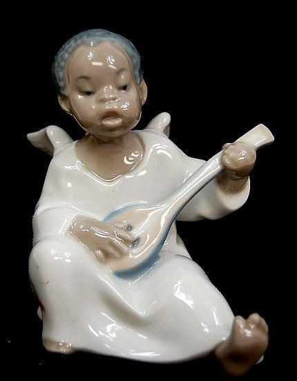 "3: Lladro #4537 entitled ""Black Angel"""