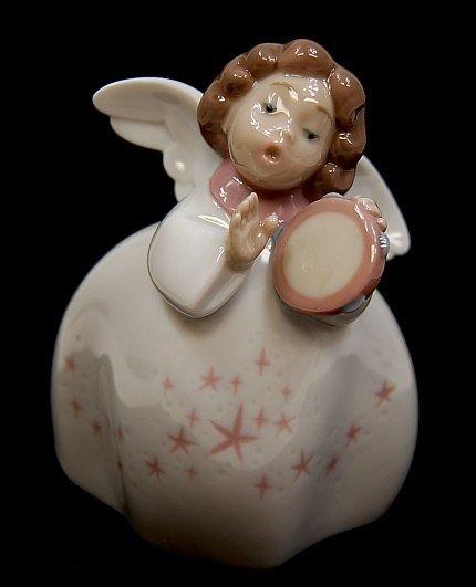 "6: Lladro #6530 entitled ""Little Angel W/ Tambourine"