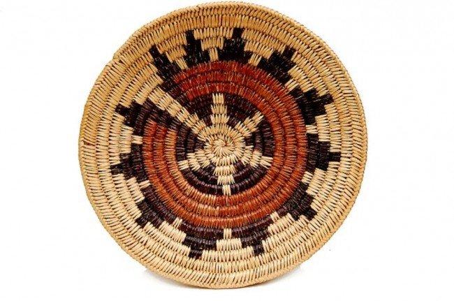 """21: Vintage Navajo ceremonial 13"""" wedding basket"""