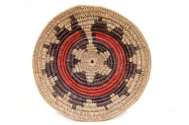 22: Vintage Navajo ceremonial wedding basket c.1930