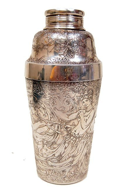 120: Tiffany & Co. engraved cocktail shaker c.1890