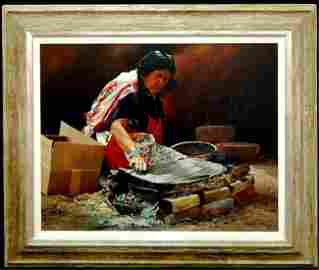 131: Ray Swanson (1937-2004) Arizona original oil