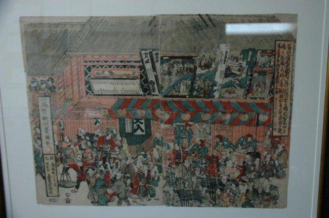 13: Utagawa Toyokuni hand colored woodblock print