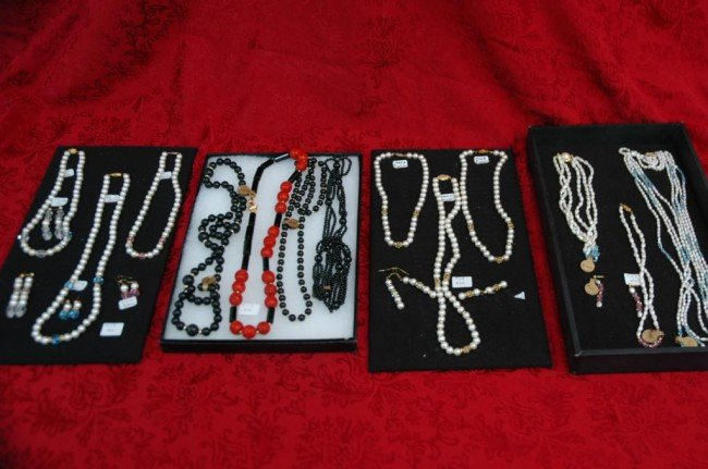 2: 19 Semiprecious Beaded Necklaces and earrings