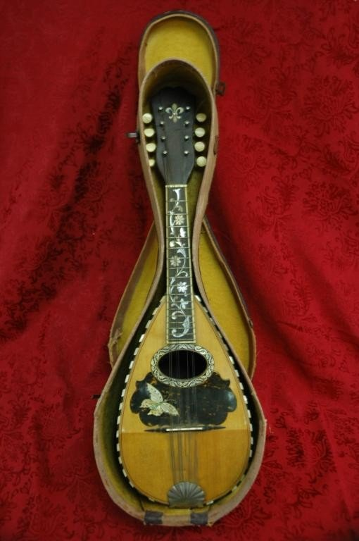 3: Antique Handmade Bowback Mandolin