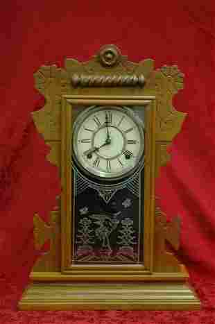 Antique Waterbury Kitchen Mantle Clock