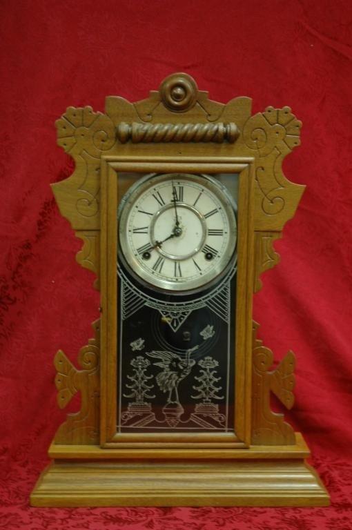 9: Antique Waterbury Kitchen Mantle Clock