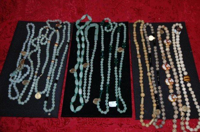 22: Lot of 16 Semi Precious Beaded Necklaces