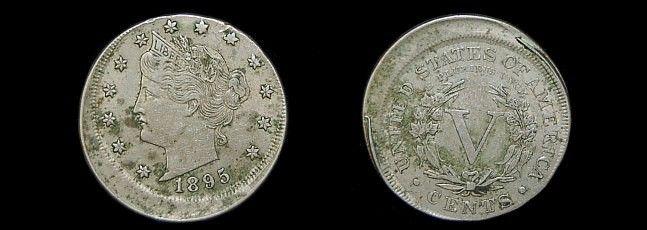 1895 Liberty V nickel